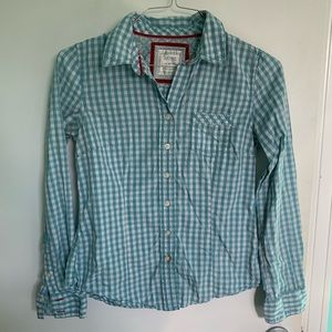 Old Navy Checkered Flannel Button Down Shirt